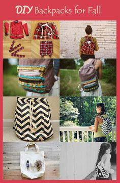 DIY Backpacks for Fall