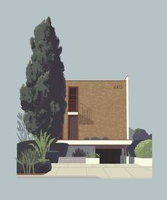 Mid-century brick on Ambrose Available as an open-edition archival print in my online print shop.