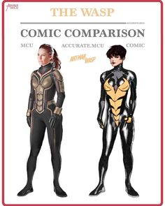 "8,895 Likes, 84 Comments - • Accurate.MCU • mcu fanpage (@accurate.mcu) on Instagram: ""• THE WASP - COMIC COMPARISON • I love the wasp's MCU suit and @evangelinelillyofficial looks so…"""