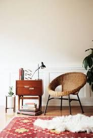 Mid Century Rattan Hoop Chair / Wicker by MicroscopeTelescope Wild Is The Wind, Interior Inspiration, Design Inspiration, Chair Side Table, Bohemian Interior, Fun Cup, Small Tables, Wicker Furniture, Modern Chairs