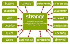 English vocabulary - other ways to say #strange