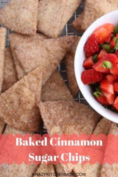 Baked Cinnamon Sugar Tortilla Chips Krazy Kitchen Mom Baked Cinnamon Sugar Tortilla Chips Krazy Kitchen Mom Krazykitchenmom Quick And Easy Recipes For Casual Dining krazykitchenmom Foodie nbsp hellip sugar tortillas Flour Tortilla Chips, Tortilla Bake, Cinnamon Tortilla Chips, Flour Tortillas, Baked Cinnamon Chips, Tortilla Recipes, Cinnamon Desserts, Cinnamon Cake, Cinnamon Coffee