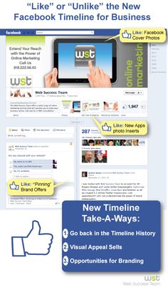 """Like"" or ""Unlike"" the New #Facebook Timeline for Business."