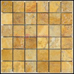 Gold Tumbled Travertine Mosaic Tiles - Stone Tile Us Floor Decor, Stone Tiles, Travertine, Mosaic Tiles, Natural Stones, Flooring, Gold, Construction, Amazon