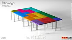 Fun large table that is made up of 10 table...loads of different shapes to be made