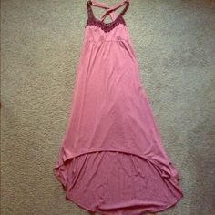 Mudd Maxi Purple Dress Mudd dress, size XS. Has uneven bottom, and criss cross back. Perfect for the summer! I just never wore it. Mudd Dresses Maxi