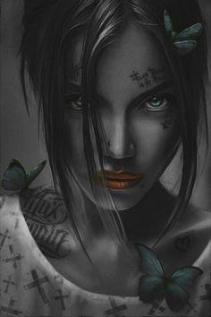 🖤🖤🖤 love life lifesucks sadlife fuckall deadtome dead inside alone noone Dark Fantasy Art, Dark Art, Girl Tattoos, Tatoos, Dope Cartoon Art, Pop Art Wallpaper, Black Girl Art, Digital Art Girl, Goth Art