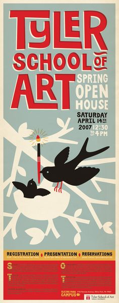 Awesome Poster by Jessica Hische: Black, muted french blue, brick red awesomeness.