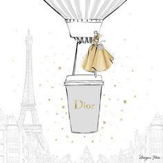 """Today I'm dreaming of the perfect DIOR Coffee.two shots of pale grey and a little sprinkle of…"" Megan Hess Illustration, Beauty Illustration, Arte Fashion, Fashion Wall Art, Paper Fashion, Kerrie Hess, Paris Mode, Coffee Girl, Fashion Sketches"