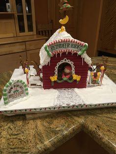 Gingerbread Reindeer Rides Gingerbread Reindeer, Christmas Gingerbread House, Gingerbread Houses, Gingerbread House Designs, Santa, Food, Meals, Yemek, Eten