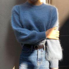 Imagem de fashion, girl, and blue