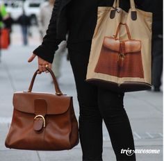 Très Awesome ♥ Chicago Street Style: Natacha Polaert with her Delvaux Bags