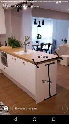 Kitchen Bar Design, Home Decor Kitchen, Kitchen Layout, Home Kitchens, Home Interior Design, Interior Decorating, Natural Home Decor, Cuisines Design, Home Decor Furniture