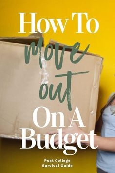 How to move out on your own after college graduation. How to prep for moving out… How to move out on your own after college graduation. How to prep for moving out on a budget. College Survival Guide, Survival Tips, Wilderness Survival, Ways To Save Money, Money Saving Tips, Tips For Moving Out, Moving Expenses, After College, Budget Planer