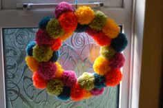 """HeyHW: Pom Pom Wreath......for the honeymoon suite. And maybe a copy of the movie : """"Next of Kin"""" sitting on the night stand to get the Honeymoon started!"""