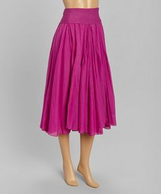Love this Fuchsia Fold-Over Skirt on #zulily! #zulilyfinds