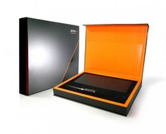 This is the luxurious presentation box which we produced for the private bank, Access, for their VIP Account Holders, and which was designed to hold a quality leather chequebook holder and branded pen.
