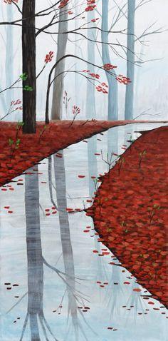 Serenity acrylic painting by Brian Sloan. Misty Forest, Forest Art, Forest Painting, Best Canvas, Nature Paintings, Canvas Art Prints, New Art, Serenity, Original Artwork