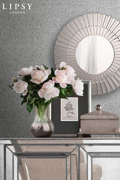 Lipsy Luxe Texture Silver Wallpaper - Silver