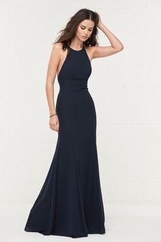 248810ea92 WToo Bridesmaids by Watters 400 Show off in this high halter