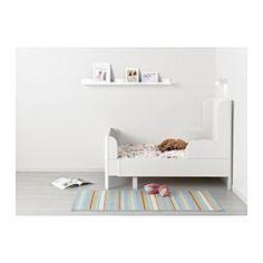 IKEA - BUSUNGE, Växasäng, , Utdragbar säng som kan förlängas i takt med att barnet växer.Ribbor av massivt trä ger ett fast stöd.