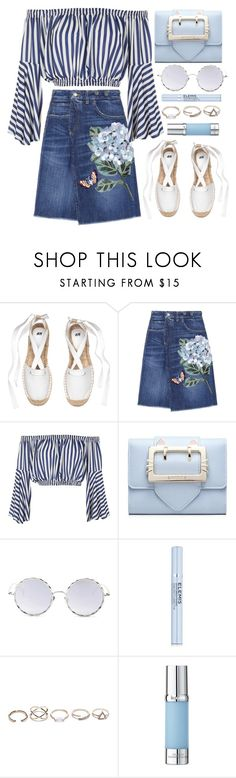"""""""Coffee Break"""" by monmondefou ❤ liked on Polyvore featuring Dolce&Gabbana, Love, LMNT, Elemis, GUESS, La Prairie, Blue and coffeebreak"""