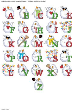Cross Stitch Christmas Ornaments, Xmas Cross Stitch, Cross Stitch Letters, Cross Stitch Baby, Christmas Cross, Cross Stitching, Cross Stitch Embroidery, Christmas Alphabet, Cat Pattern
