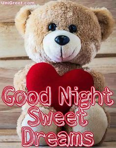 Get the best good night teddy bear image to wish a good night Good Night Greetings, Good Night Wishes, Good Night Sweet Dreams, Good Night Quotes, Good Night For Him, Good Night My Friend, Good Night Image, Good Night Teddy Bear, Cute Teddy Bear Pics