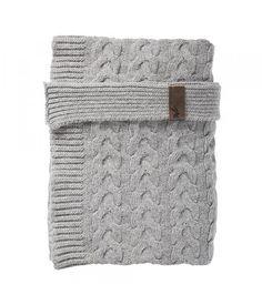 Mies & Co wollen ledikant deken soft grey