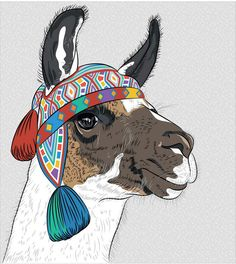 Immagini, foto stock e grafica vettoriale simili a tema Animal Portrait with Flat Design / Llama / Vector Illustration - 187318370 Framed Art Prints, Framed Artwork, Llama Alpaca, Illustration, Funny Art, Pet Portraits, Vector Art, Art Drawings, Moose Art