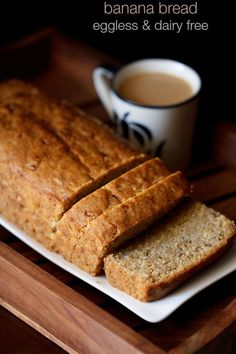 banana bread, vegan banana bread recipe | eggless banana bread recipe  Tried. Works! With coconut oil flavour's a tad strong. Trying with olive oil next.