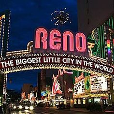 Reno, Nevada.  I did not spend much time here but one thing we did see was Harry Bellefonte and he was great. De oooo.  No gambling here either.  This was during one of my western ski trips.