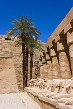 Antiche rovine del tempio di Karnak in Egitto