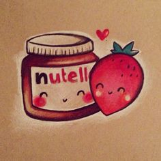 Adorable Nutella drawing