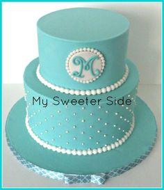 Tiffany blue bridal shower cake
