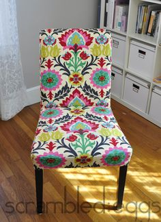 How to make IKEA dining chair covers Ikea Dining Room, Dining Room Chair Covers, Dining Chair Slipcovers, Dining Chairs, Ikea Chairs, Pink Chairs, Bag Chairs, Upholstered Chairs, White Chairs