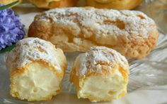 Poctivé vanilkové Eclair z odpalovaného těsta. Bohatý krém a křehké těsto. Asian Recipes, Sweet Recipes, Ethnic Recipes, Bread Dough Recipe, Czech Recipes, Sweet Desserts, Desert Recipes, Mini Cakes, Good Food