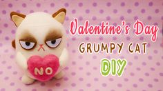 I though Grumpy Cat would be fun gift idea for Valentine's day! Or maybe as an anti-valentine's gift?! XD Either way, I hope you had fun watching this tutori...
