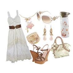 Summer dress style brown fashion classy beautiful flowers