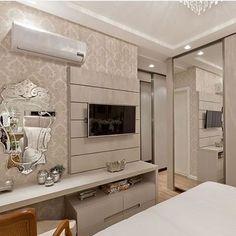Interior Living Room Design Trends for 2019 - Interior Design Tv In Bedroom, Closet Bedroom, Modern Bedroom, Bedrooms, Master Bedroom, Interior Design Living Room, Living Room Decor, Bedroom Decor, Living Rooms