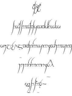 Tengwar Cursive font by Harri Perälä - FontSpace - Lord of the Rings Font