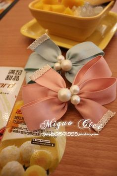pearl hair ribbon