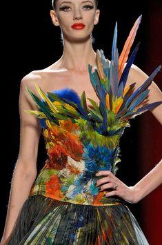 Milagros Schmoll, Jean Paul Gaultier Couture F/W 2011 Style Couture, Couture Fashion, Fashion Art, Runway Fashion, High Fashion, Fashion Show, Fashion Design, Couture Details, Jean Paul Gaultier