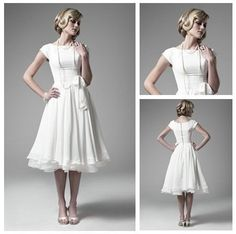 Cheap sleeve bridal dress, Buy Quality sleeve bridesmaid dress directly from China best selling wedding dress Suppliers: Best White Chiffon Organza Short Sleeve Tea Length Wedding Dresses With Sleeves 2012 1. leave message i