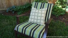 Easy Sew Outdoor Cushions Tutorial