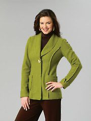 Cardigan & Jacket Sewing Patterns - Misses' Jacket with Length Variations Sewing Pattern