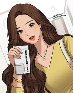 Girl Cartoon, Cartoon Art, The Secret, Angel Makeup, Angels Beauty, Korean Anime, Webtoon Comics, Handsome Anime Guys, Anime Couples Manga