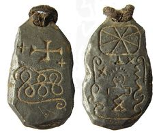 Pewter Talisman. Found by Dave Caplan in England, no other information is known about them