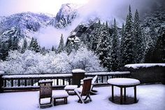 Yosemite snow deck...
