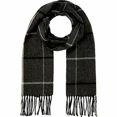Sweet Pea Fashion Black//Grey Diamond Fashion Scarf